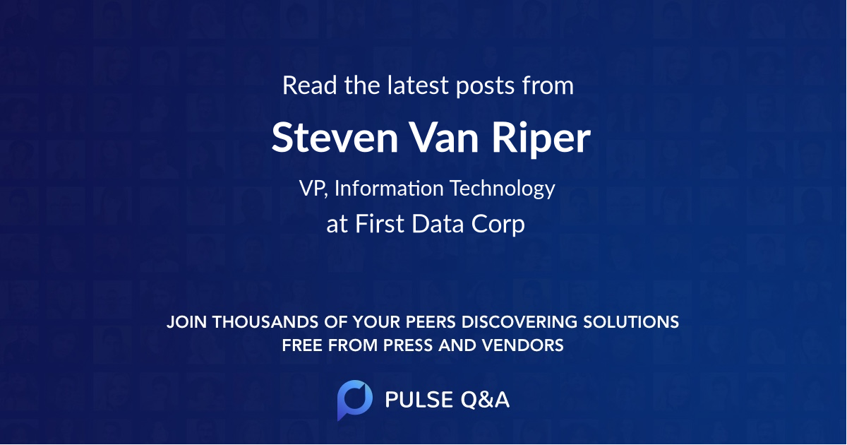 Steven Van Riper