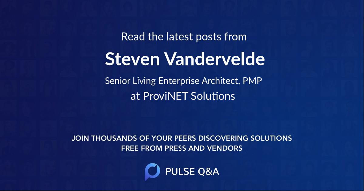 Steven Vandervelde