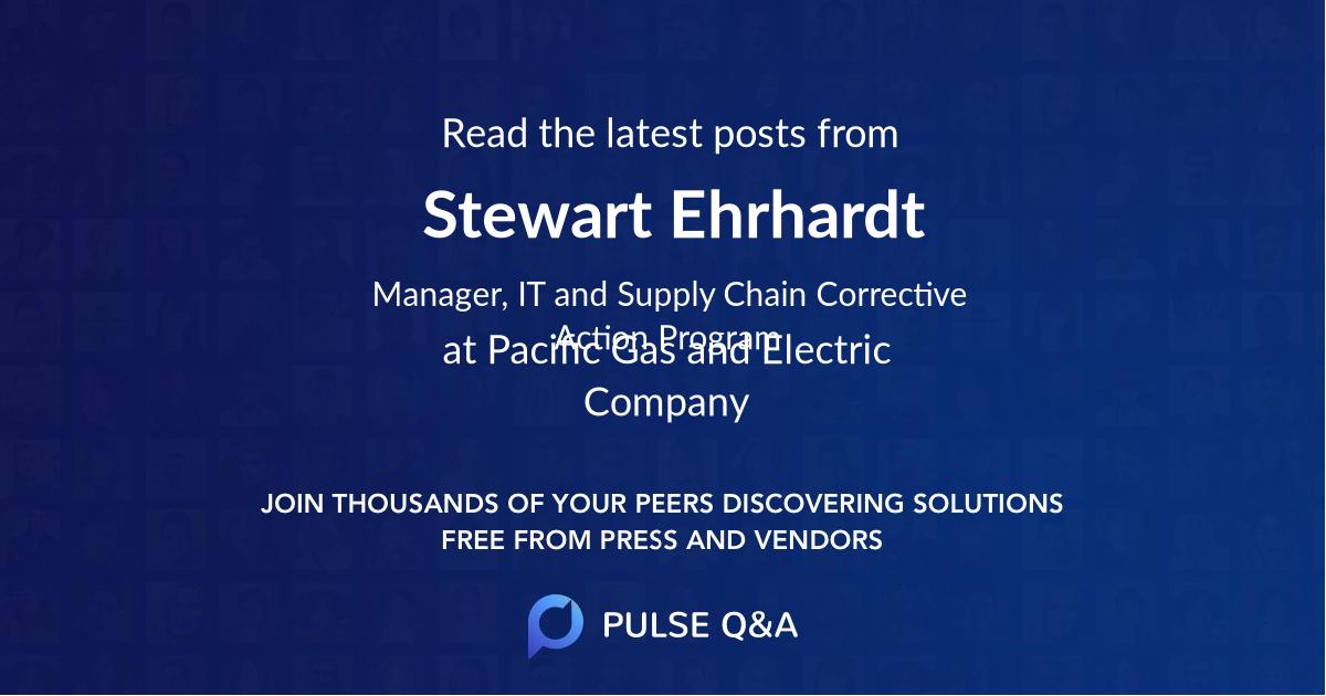Stewart Ehrhardt