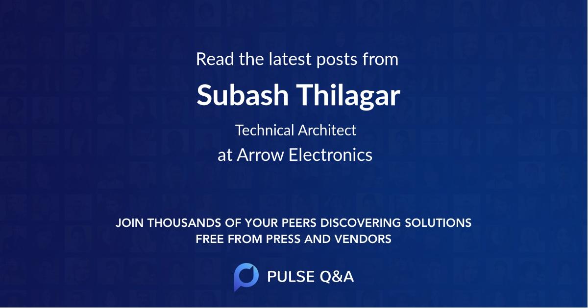 Subash Thilagar