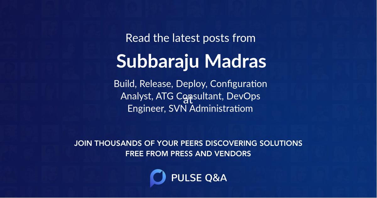 Subbaraju Madras
