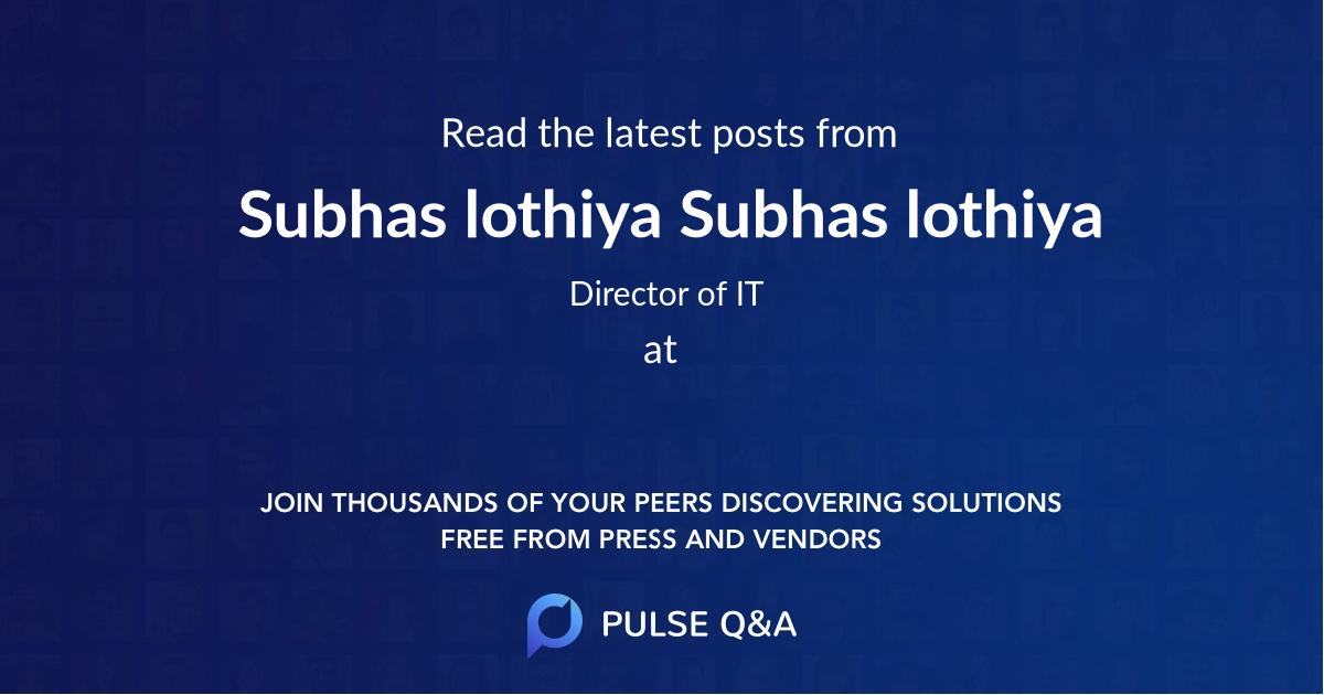 Subhas lothiya Subhas lothiya