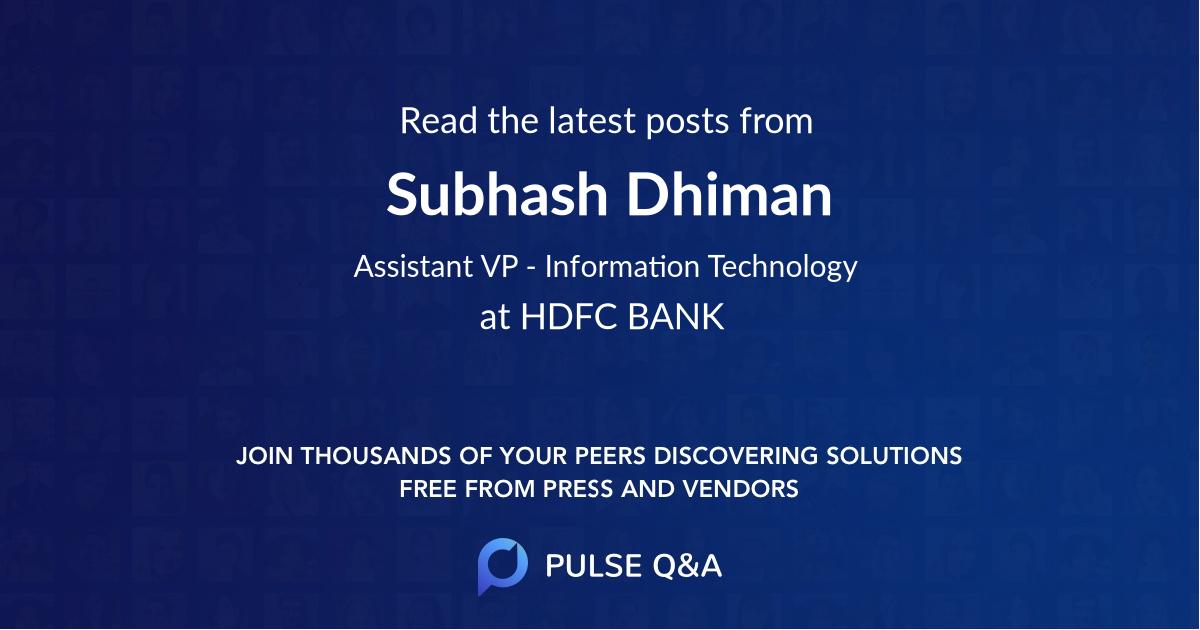 Subhash Dhiman