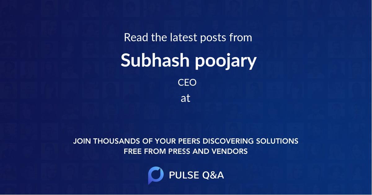Subhash poojary