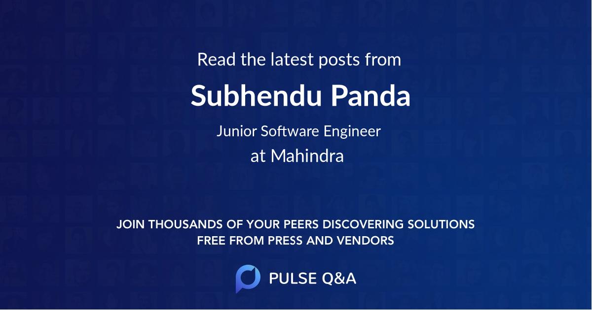 Subhendu Panda