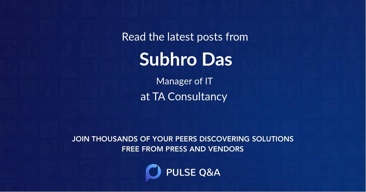 Subhro Das