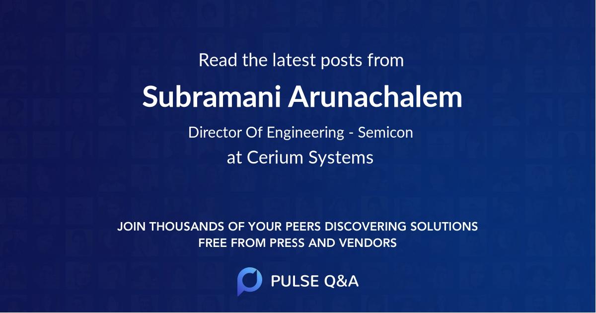 Subramani Arunachalem