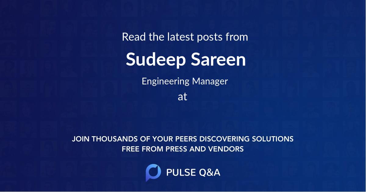 Sudeep Sareen