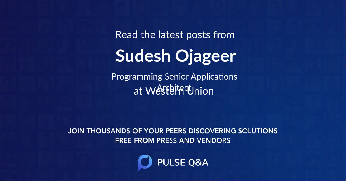 Sudesh Ojageer