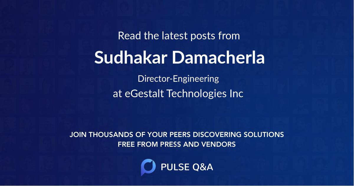 Sudhakar Damacherla