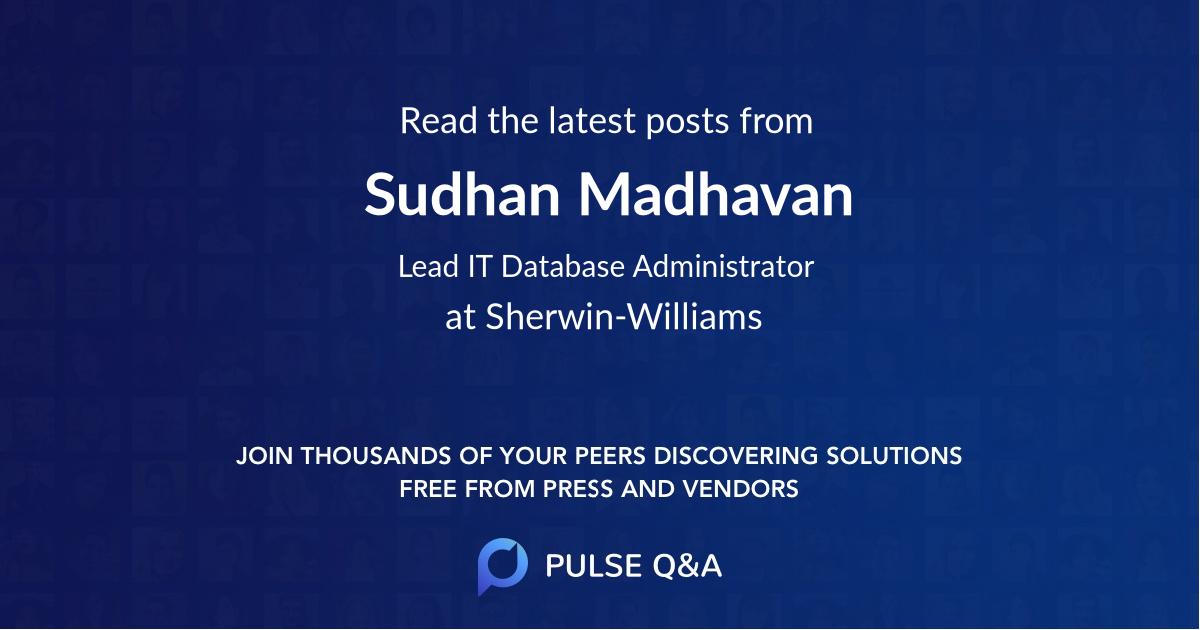 Sudhan Madhavan