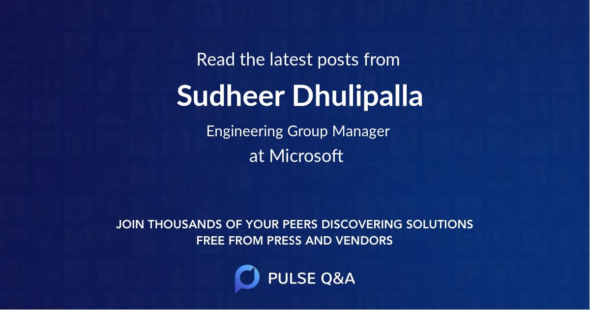 Sudheer Dhulipalla