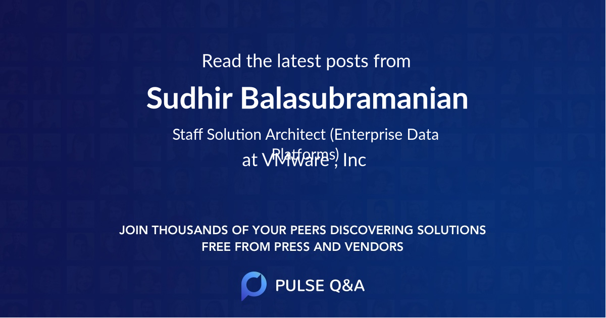 Sudhir Balasubramanian