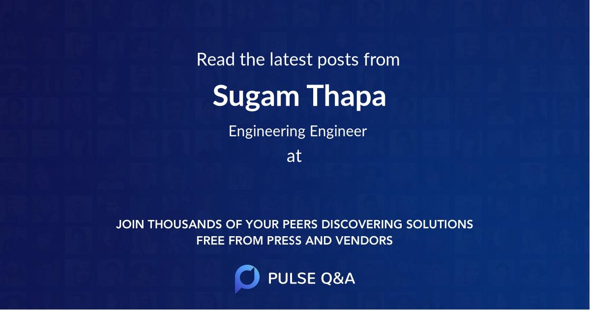 Sugam Thapa