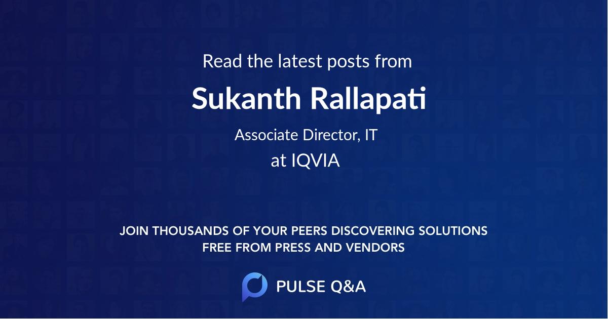 Sukanth Rallapati