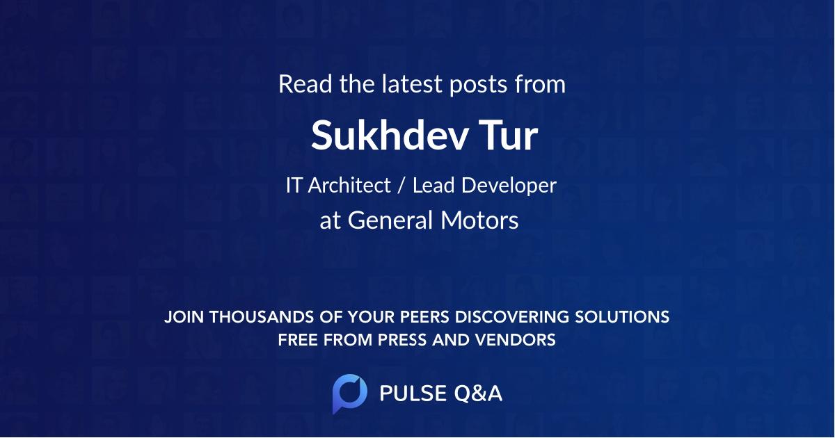 Sukhdev Tur
