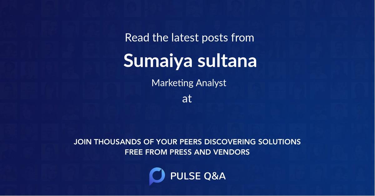Sumaiya sultana