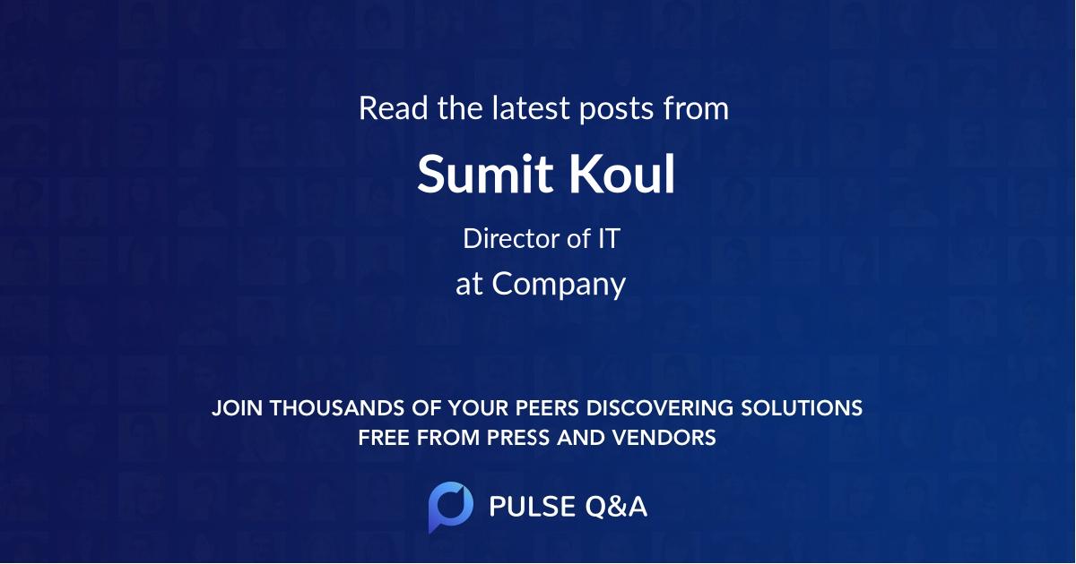 Sumit Koul
