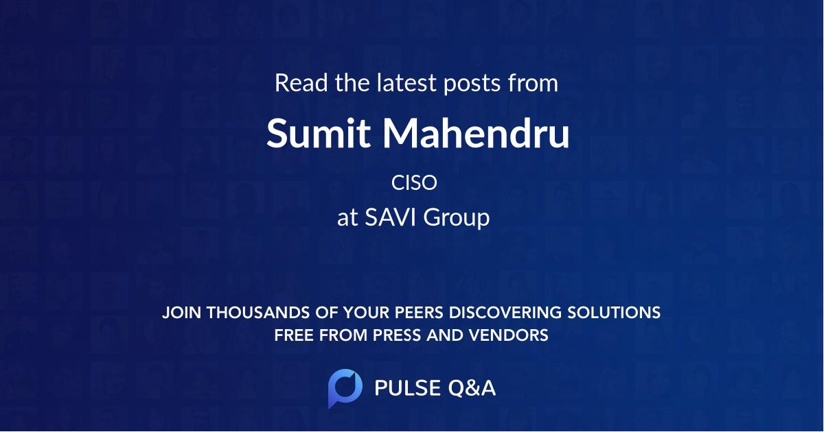 Sumit Mahendru