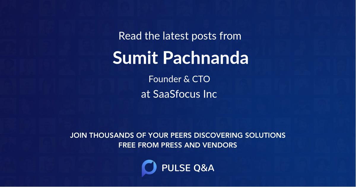 Sumit Pachnanda