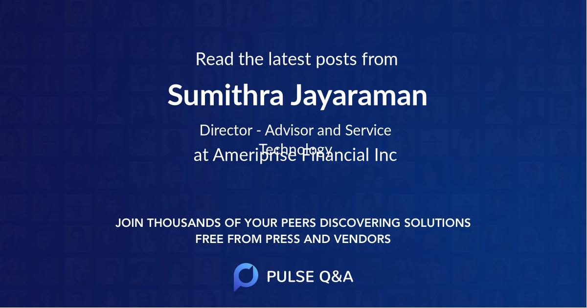Sumithra Jayaraman
