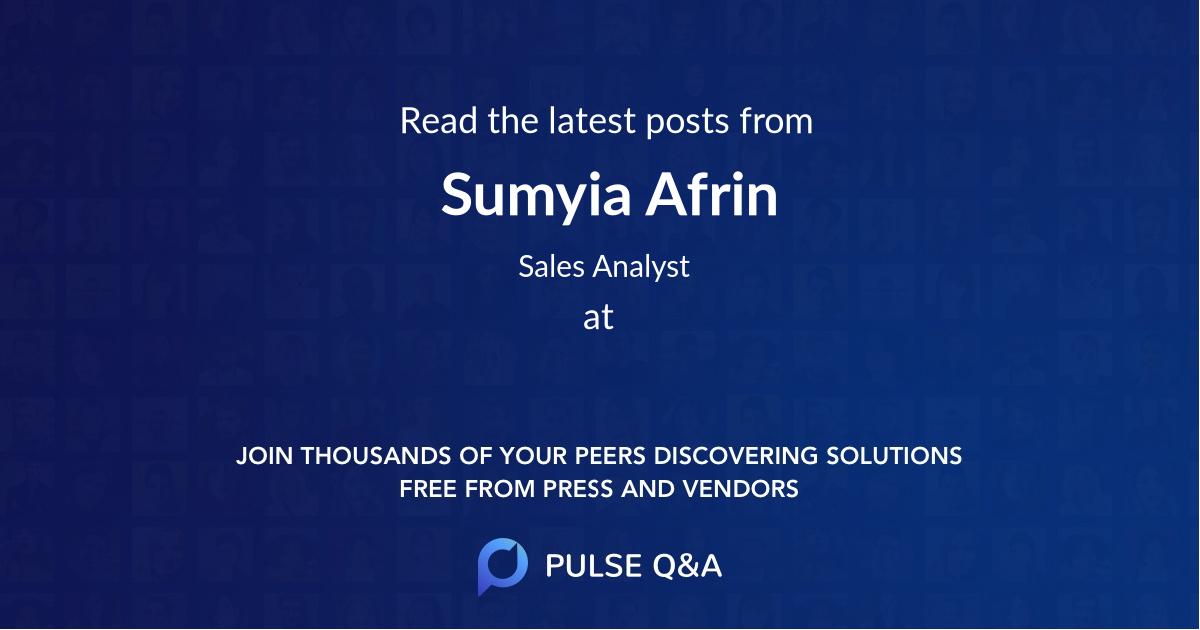 Sumyia Afrin