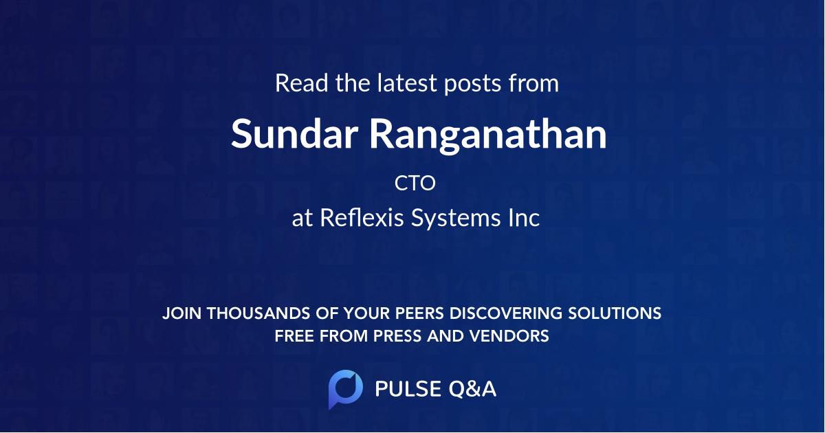 Sundar Ranganathan