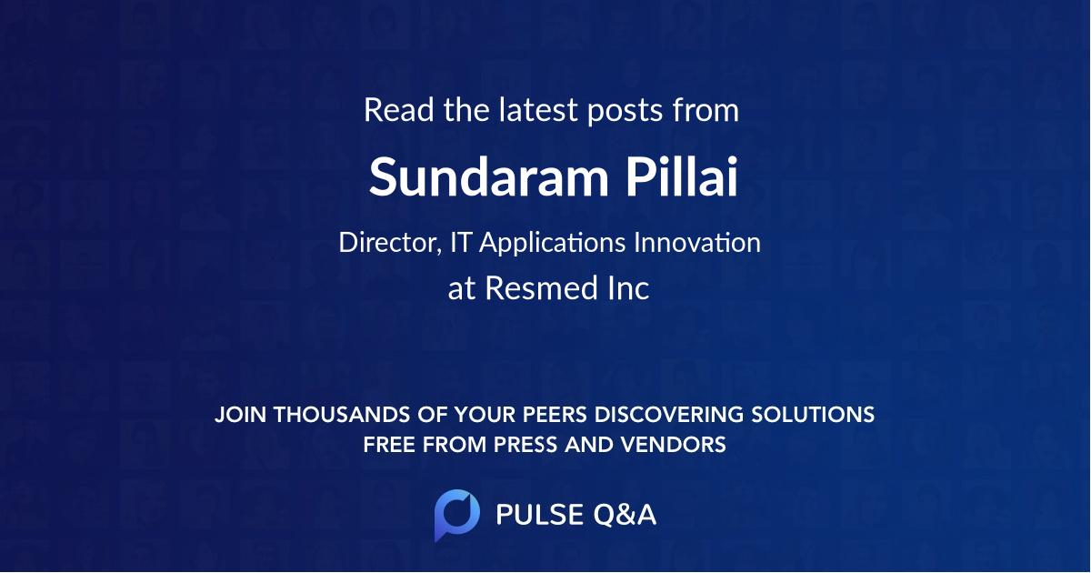 Sundaram Pillai