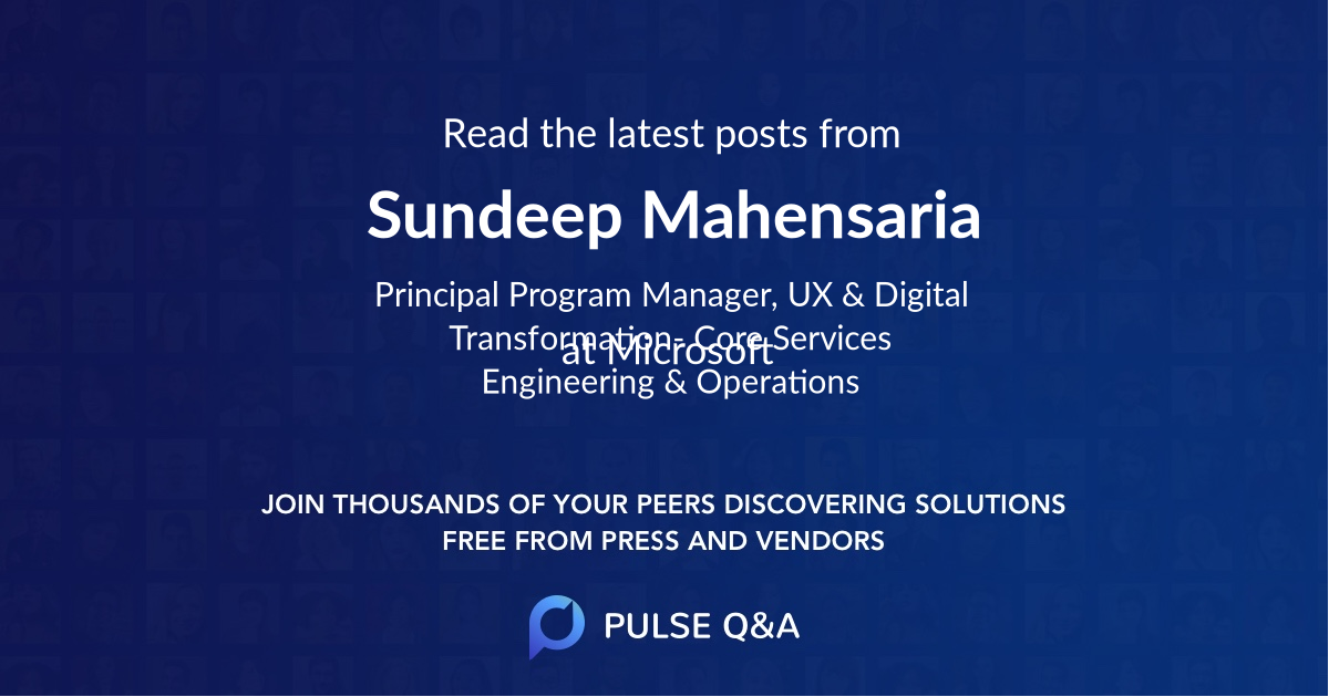 Sundeep Mahensaria
