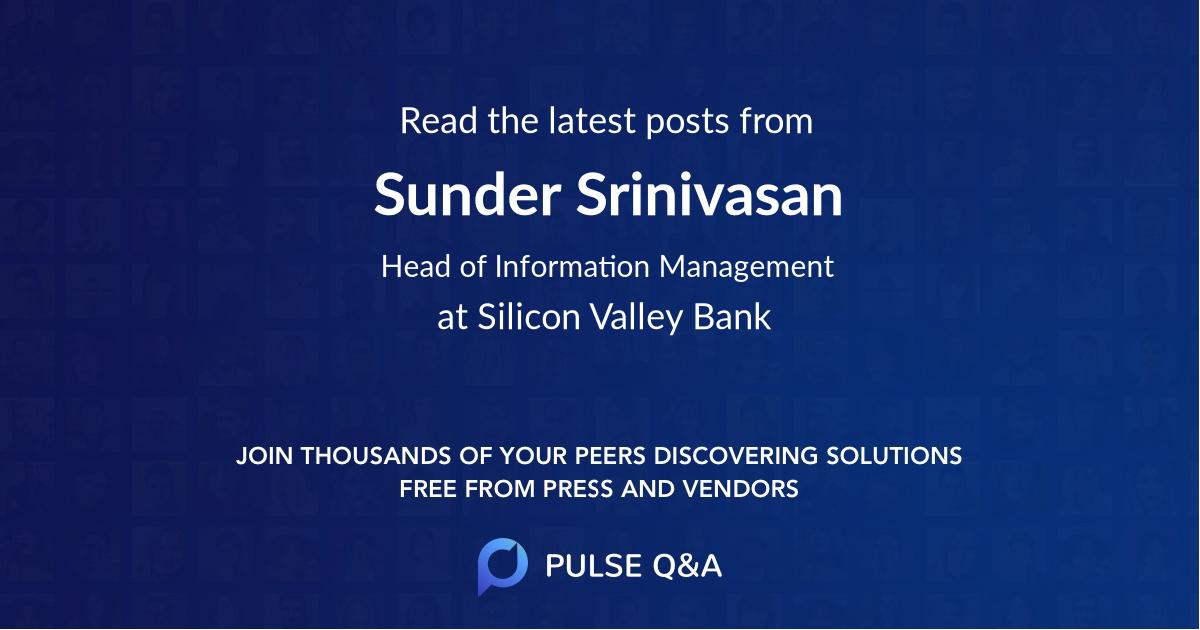 Sunder Srinivasan