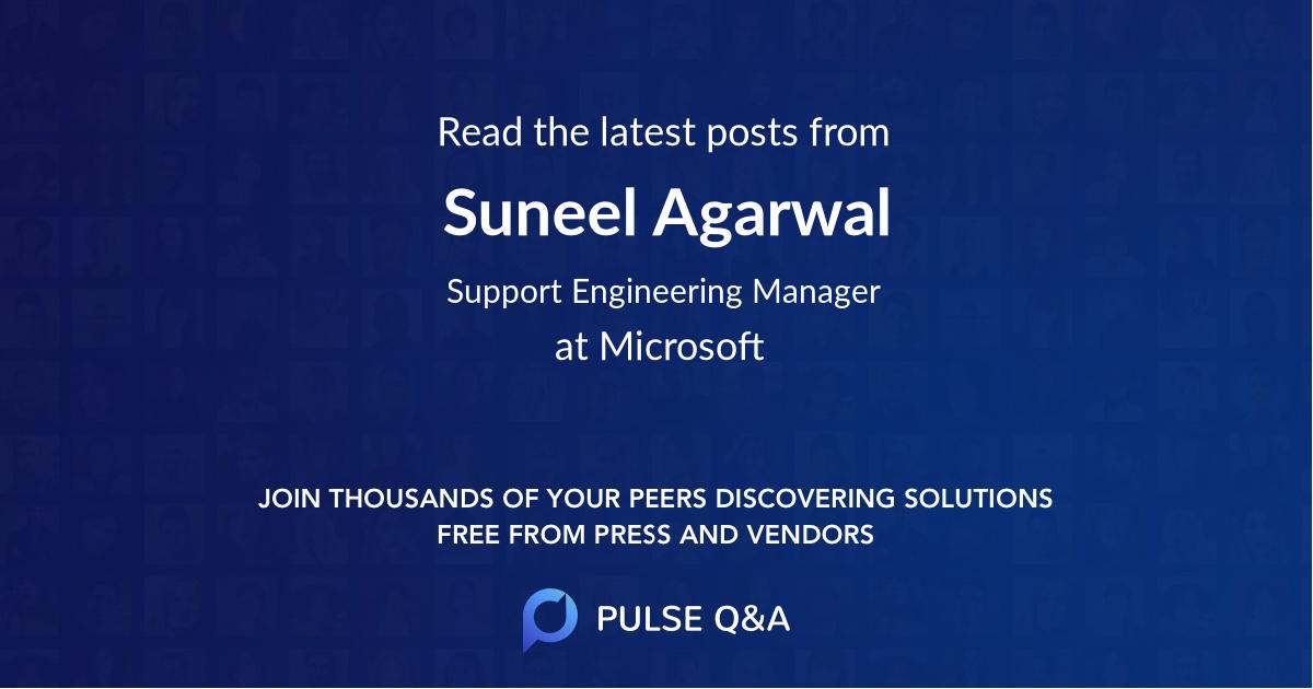 Suneel Agarwal