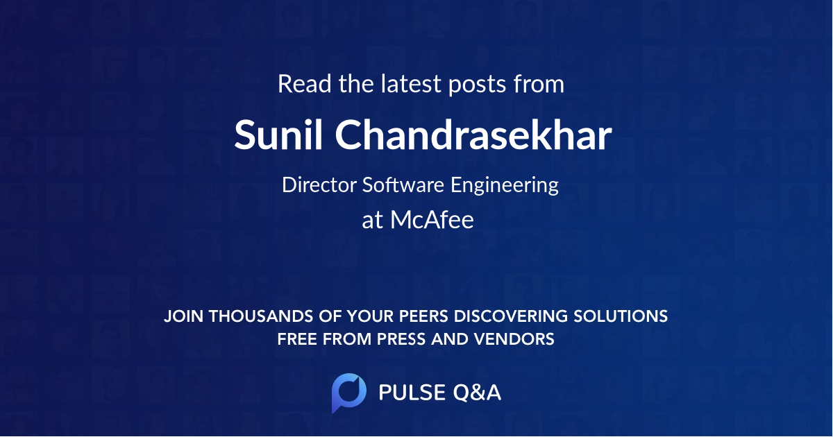 Sunil Chandrasekhar
