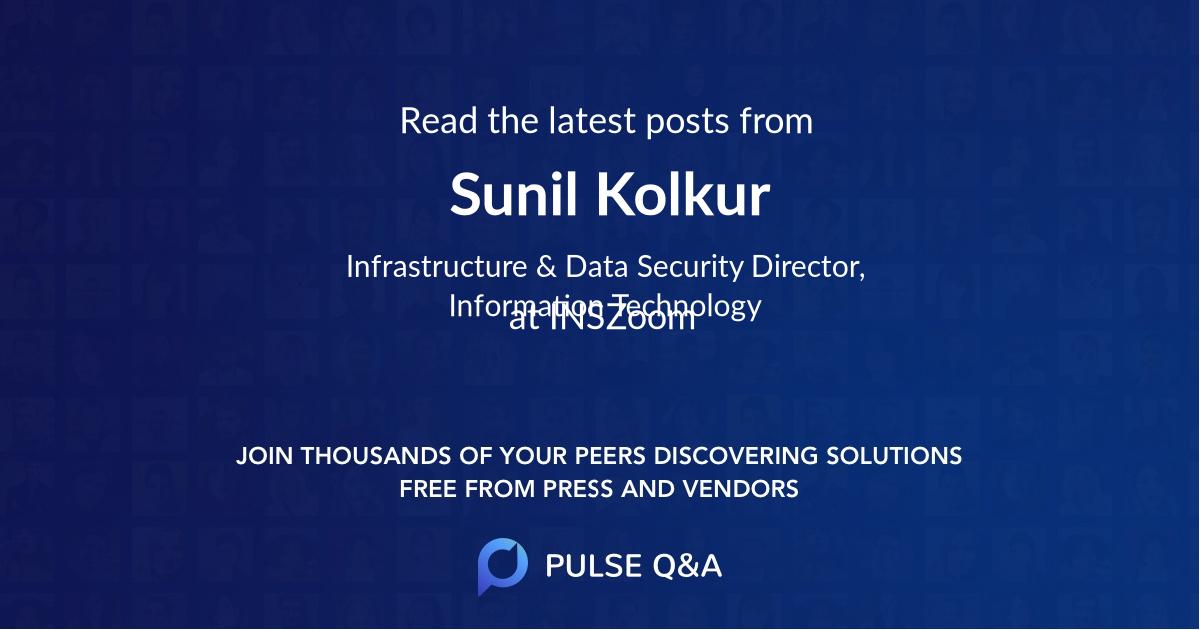 Sunil Kolkur