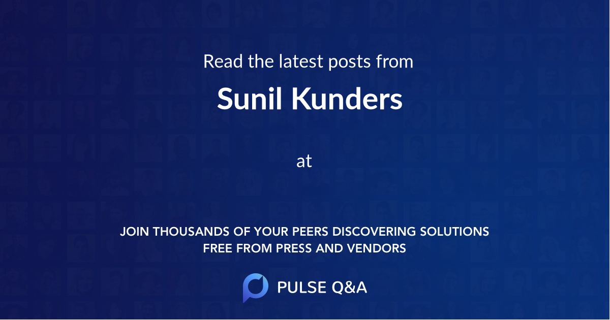 Sunil Kunders