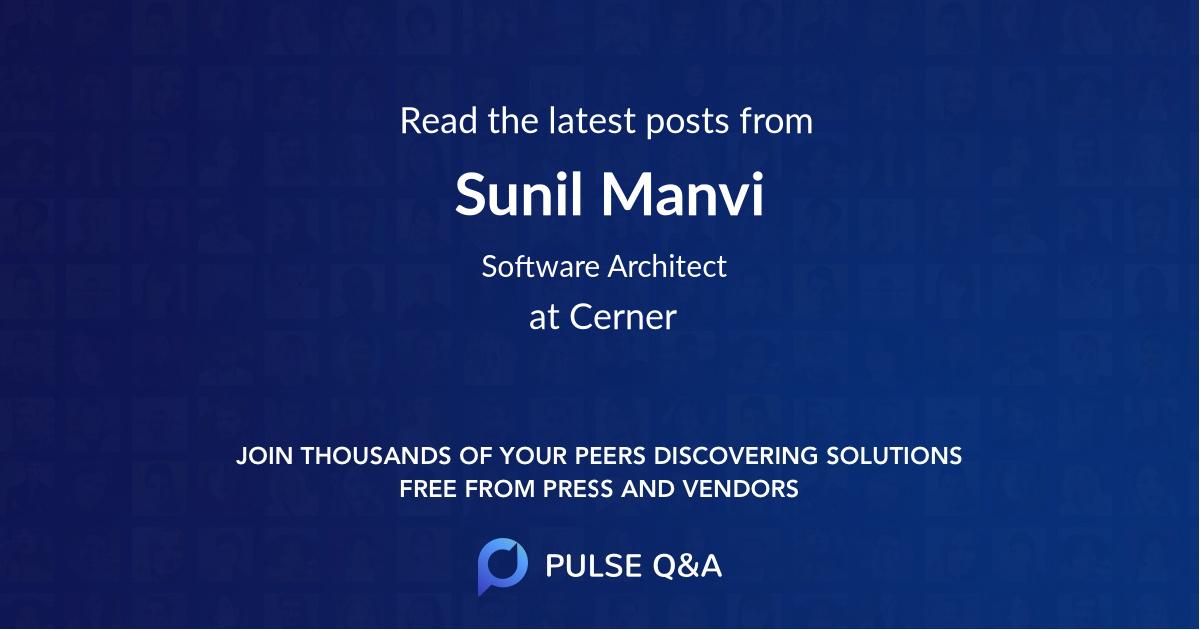 Sunil Manvi