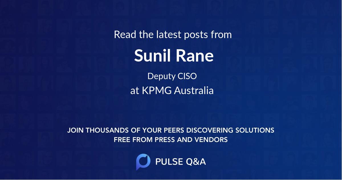 Sunil Rane