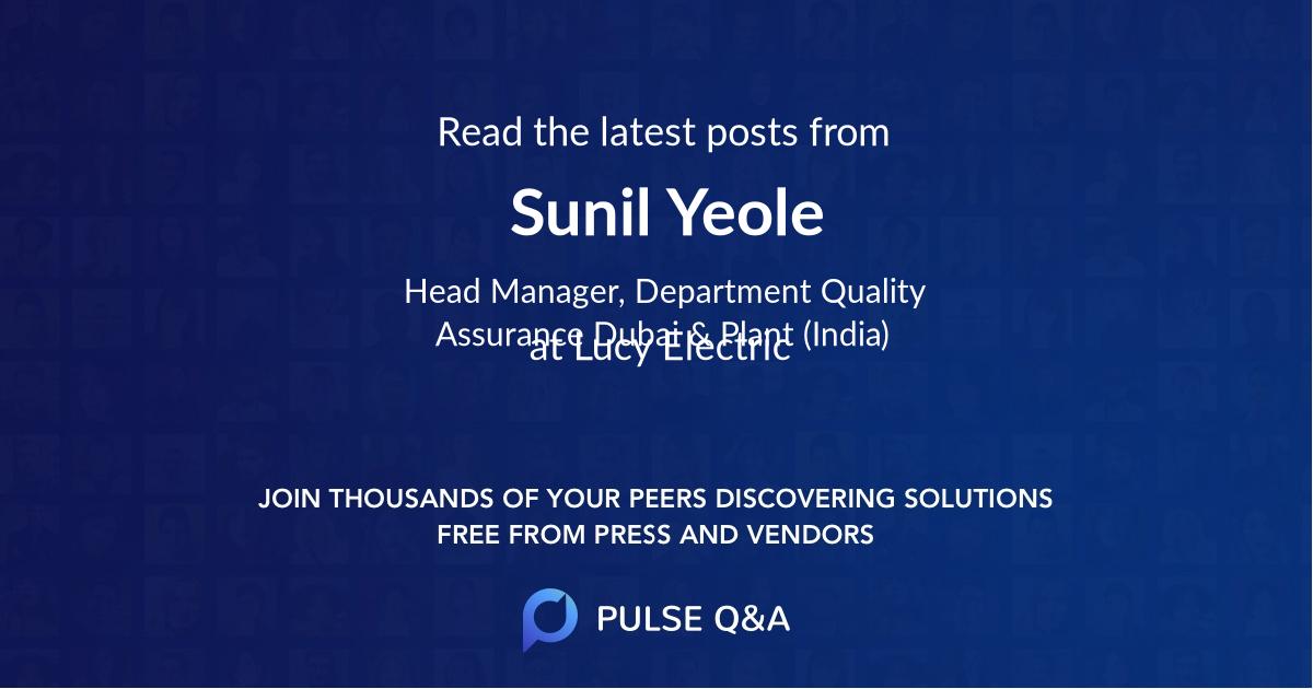 Sunil Yeole