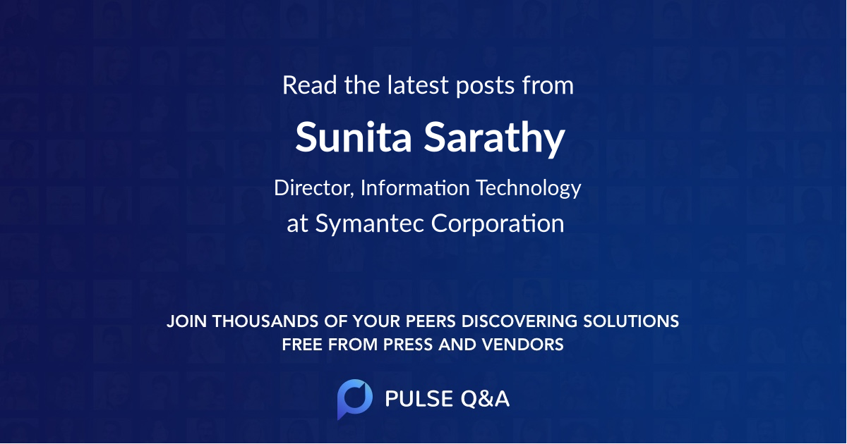 Sunita Sarathy