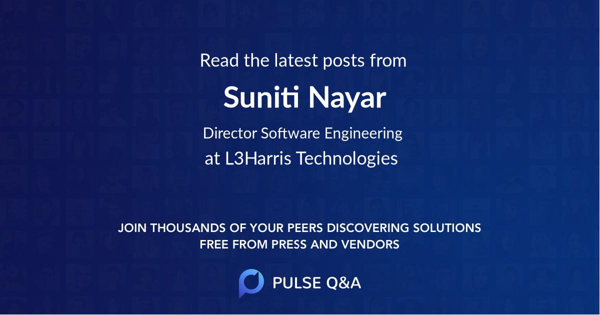 Suniti Nayar