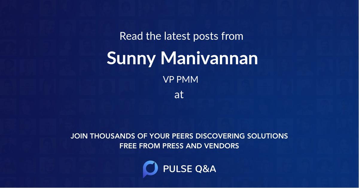 Sunny Manivannan