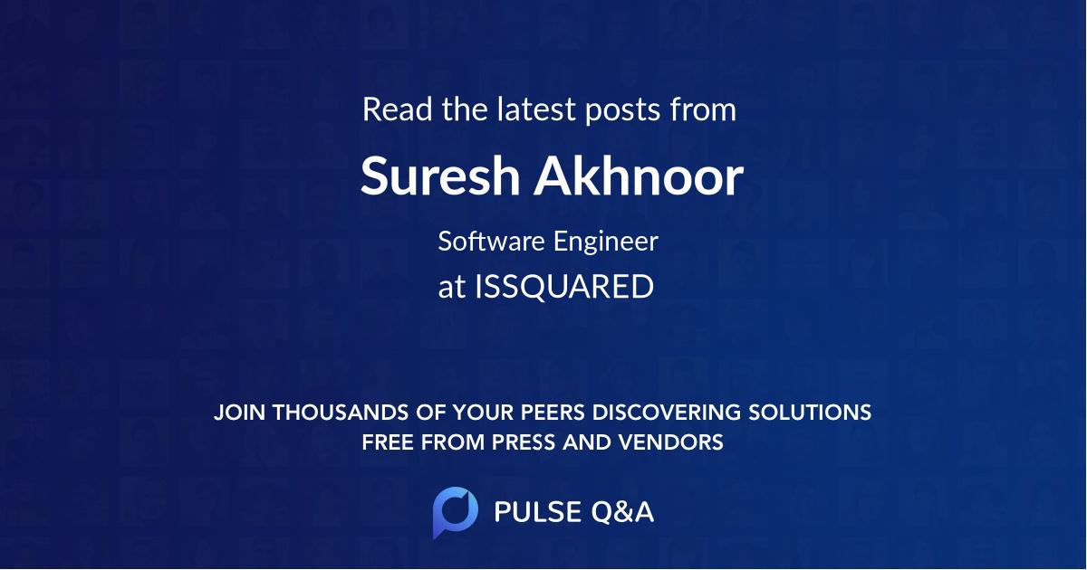 Suresh Akhnoor