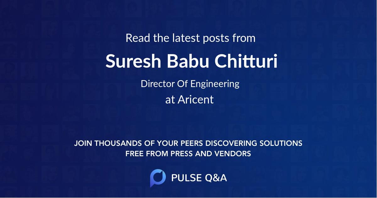 Suresh Babu Chitturi