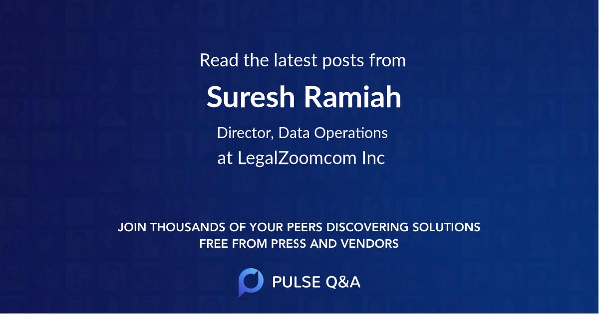 Suresh Ramiah