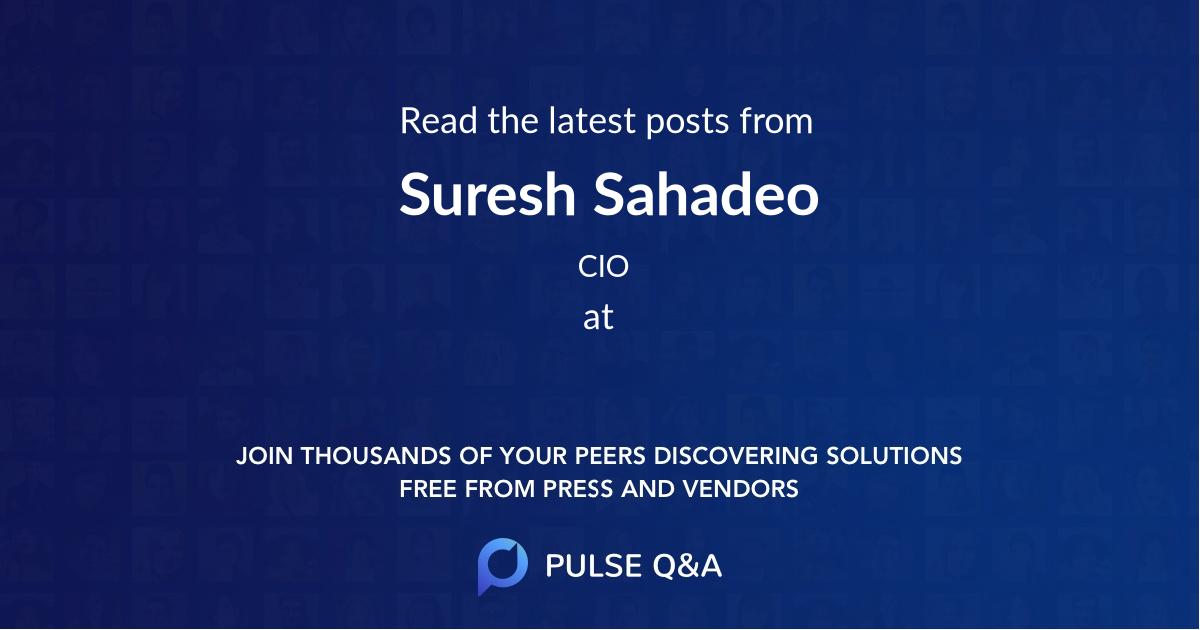 Suresh Sahadeo