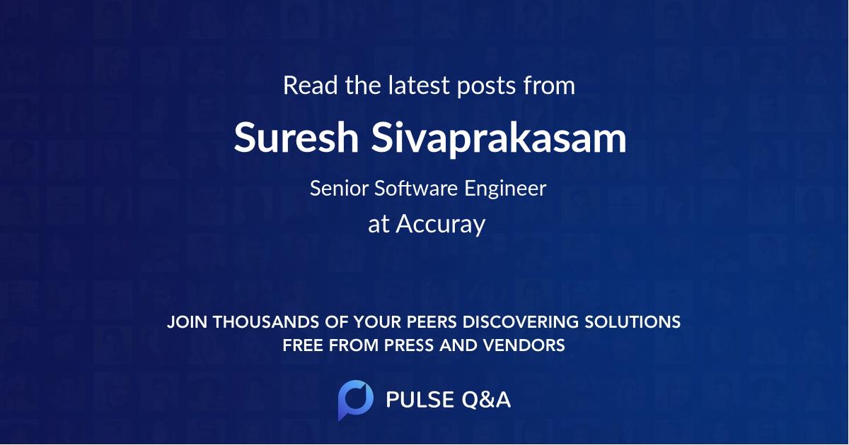 Suresh Sivaprakasam