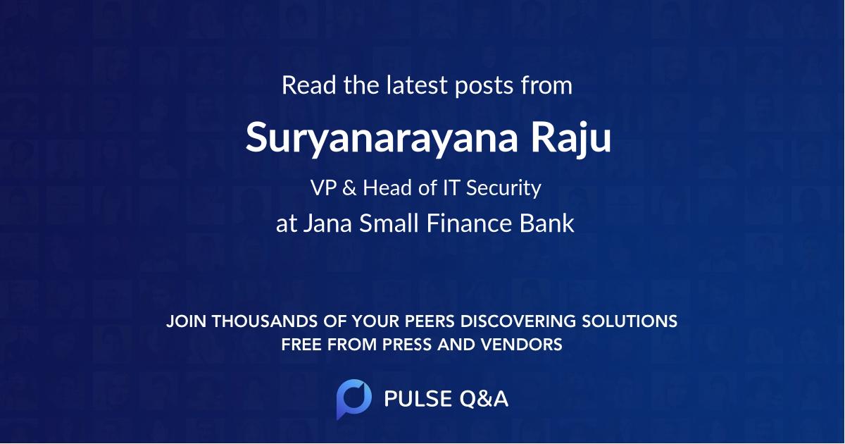 Suryanarayana Raju