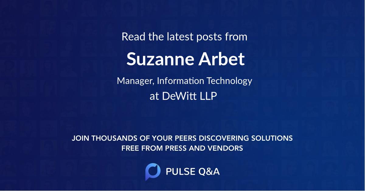 Suzanne Arbet