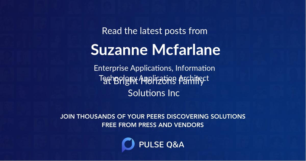 Suzanne Mcfarlane