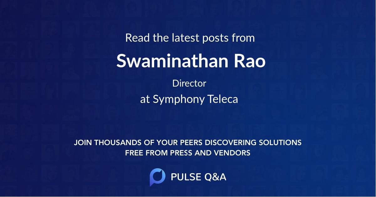 Swaminathan Rao