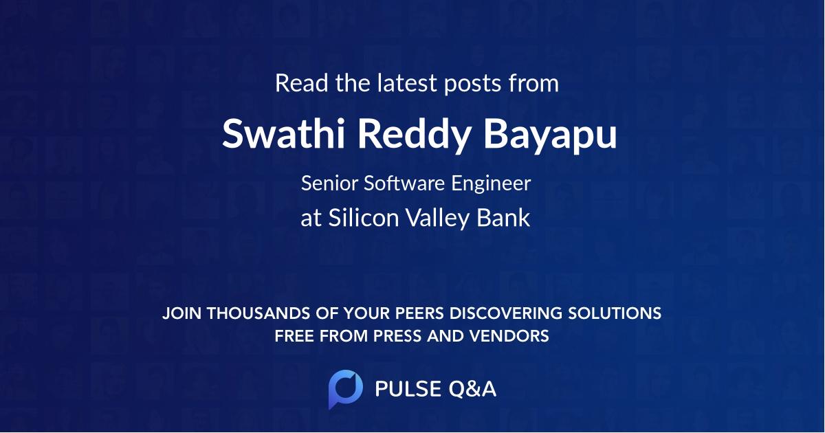 Swathi Reddy Bayapu